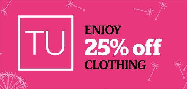 Sainsbury's 25 Off Tu Clothing Sale
