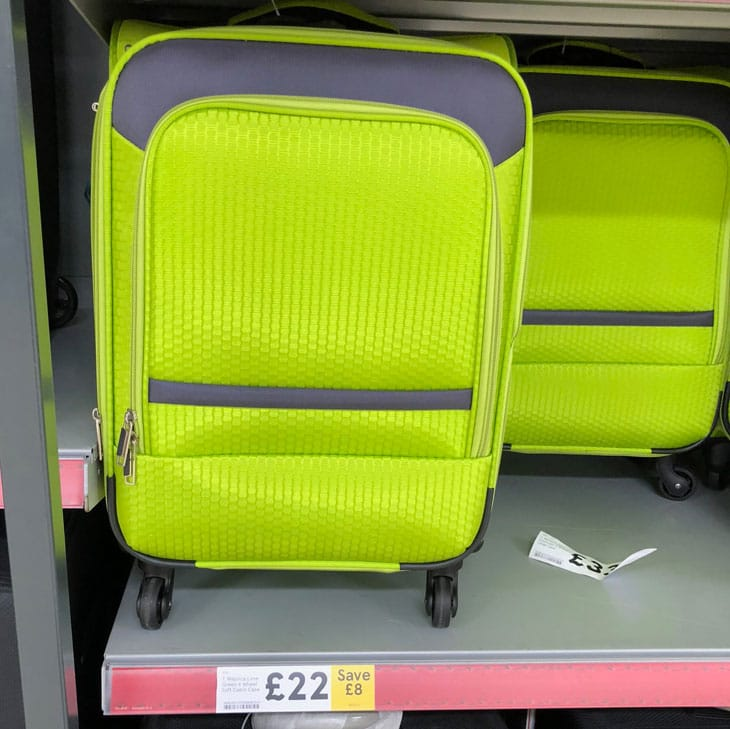 tesco lightweight suitcase and luggage sale money saver. Black Bedroom Furniture Sets. Home Design Ideas
