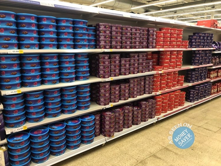 Tubs Of Cadbury Heroes Roses Quality Street And