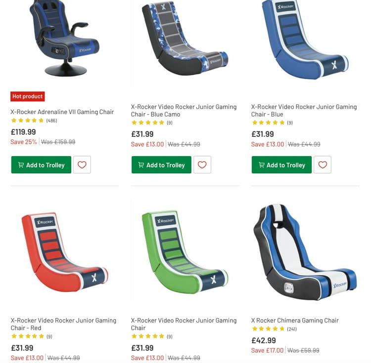 Astonishing Gaming Chair Black Friday Deals At Argos Money Saver Online Machost Co Dining Chair Design Ideas Machostcouk