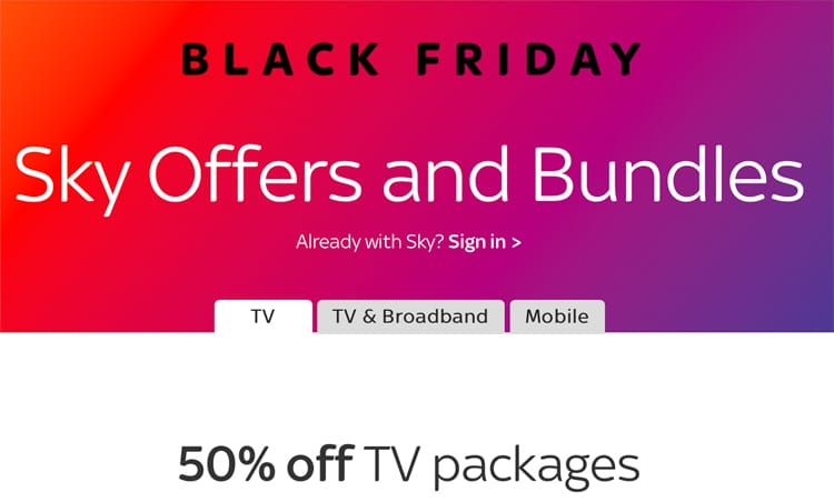 Sky Black Friday Deals Plus For Existing Customers Money Saver Online