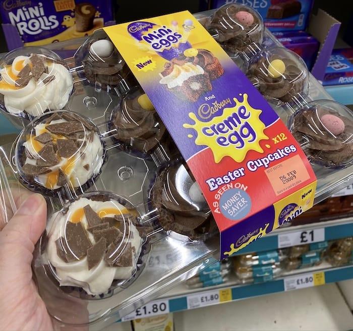 Cadbury 12 Creme Mini Egg Cupcakes Platter At Tesco